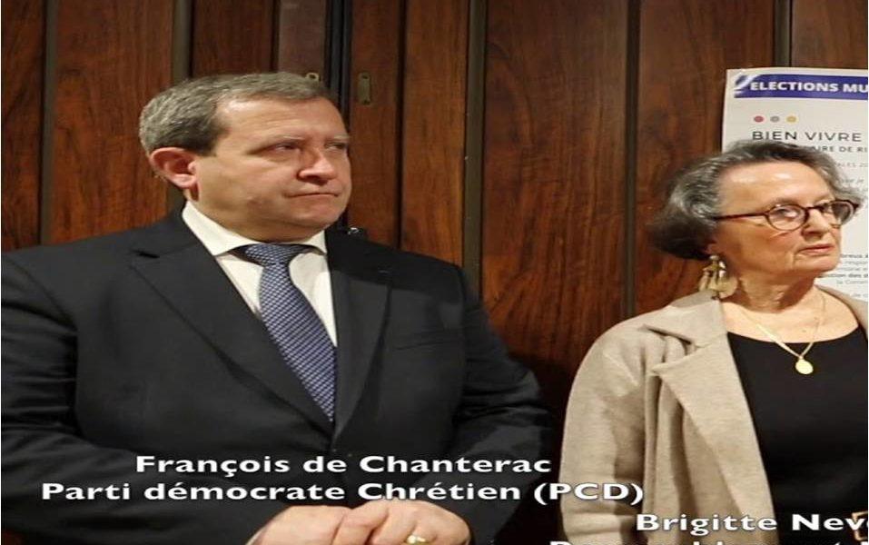 François de Chanterac (PCD) soutient la liste «Rassemblement pour Bretignolles» pour les élections municipales 2020